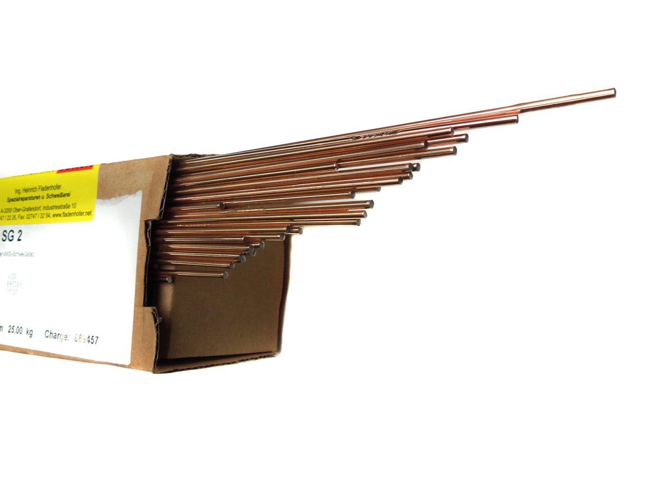 WIG-Schweißdraht Stahl SG2 unlegiert Karton