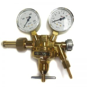 """Druckminderer Sauerstoff Hercules einstufig, 0 - 30 l/min Flaschenanschluss: W 21,8 x 1/14"""", Schlauchanschluss R 1/4"""""""