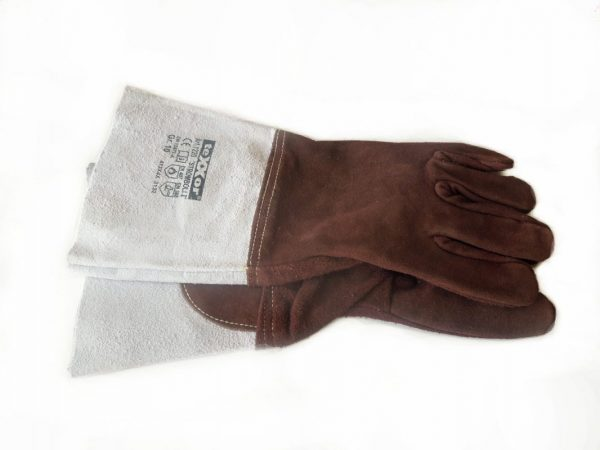 5 Finger Schweißhandschuh aus Sebatanleder, lang, mit Stulpe, ein Paar kaufen