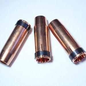 Gasdüse Brenner-Ersatzteil für Nennweite 20mm, 76mm lang, passend für verschiedene Standard-Schweißbrenner z.B. LORCH MW5500/5800/5900, Trafimet ErgoPlus 400/500/550, Binzel EVO PRO401/501 TBI401/501, SSA401/501, MB401/501, etc.