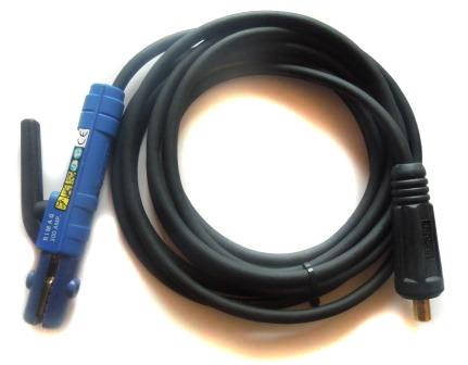Schweißkabel mit Elektrodenhalter 200A 25mm², 5m lang, Stecker Quick 35/50 mit 13mm Zapfen