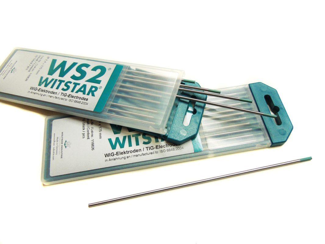 WIG-Elektrode WIG-Nadel Wolframelektrode WS2 Witstar türkis Packung