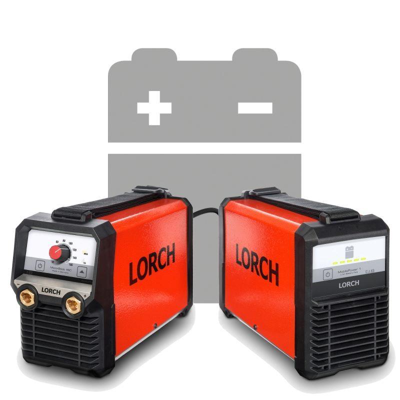 LORCH_MicorStick160 und Akkut-Pack MobilePower Elektrodenschweißen mit Akku oder Stromanschluss