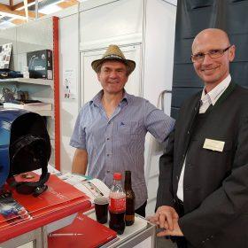 Heinrich mit Kunden auf unserem Stand Wieselburger Messe