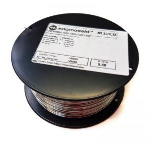 Mini Spule Edelstahl 308L 4316 Dm0,8 auf Dornspule D100 mit Aufnahme Dm16mm_1