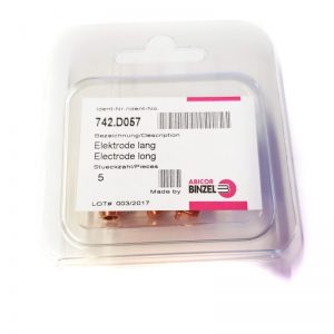 Binzel Abiplas CUT70 Elektrode lang_1 742.D057