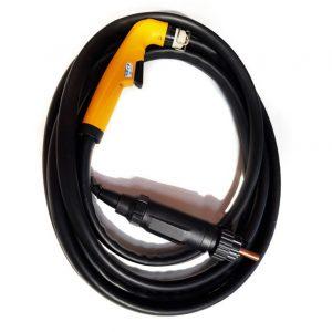 Plasma-Handbrenner für Plasma-Schneidgerät CUi70 Kjellberg mit Verschleißteilen am Brennerkopf und ZA