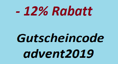Gutscheincode Aktion Advent 2019 Rabattaktion