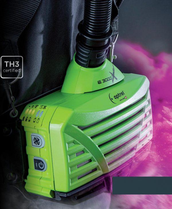 Atemschutzsystem Frischluft Optrel e3000x mit Akku, Filter,Schlauch und Anschlüssen