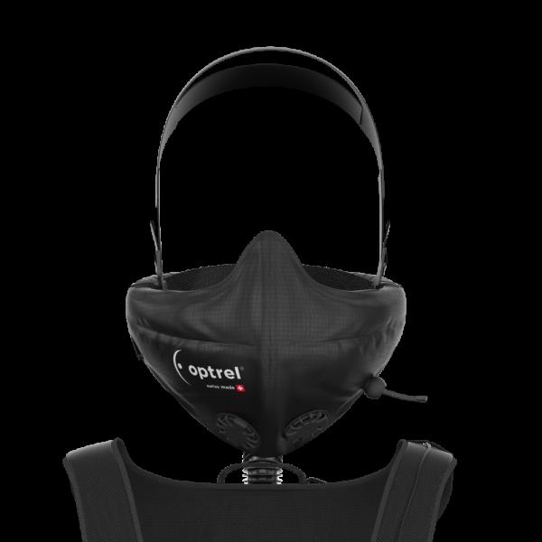 Atemschutz unabhängig von Helm regulierbarer Luftstrom